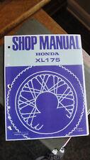 HONDA XL175 SERVICE SHOP MANUAL BASED ON 1973 MODEL YEAR 1974