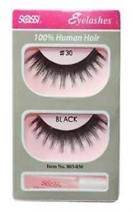 Sassi False Eyelashes 100% Human Hair #30- Free Shipping-Discontinued Styles