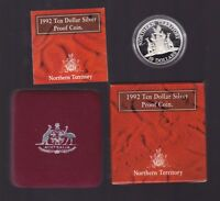 1992 $10 Silver Proof Coin Australia State of NT Northern Territory Outback