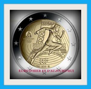 France  2 euro  BE  2021 JEUX OLYMPIQUES 2024 MONNAIE DE PARIS PREVENTE NOUVEAU