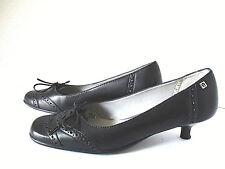 Etienne Aigner Women's Size 8M Blue Leather Tie Wingtip Kitten Heel Pumps Shoes