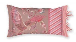 """Pip Studio Dekokissen, Kissenhülle mit Füllung """"Royal Birds"""" 35x60cm, Khaki pink"""