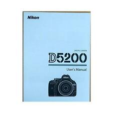 Nikon D5200 Digital Camera Basic Instruction manual( English ) NEW
