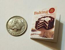 Miniature Dollhouse Cook Book Barbie 1/12 Scale  Cake decorating Baking Crocker