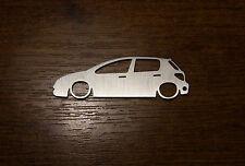 Peugeot 307 stainless steel keychain keyring schlüsselanhänger