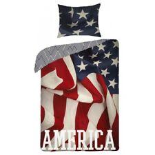Ensemble Lit L'AMÉRIQUE USA flag états Uni HOUSSE DE COUETTE Taie d'oreiller