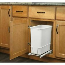 Pull Out Trash Can Bin Sliding Mount Under Sink Trash Can Included NEW FREE SHIP