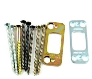 """Deadbolt Security House Door Jamb Latch Strike Plate With 3"""" Mounting Screws"""