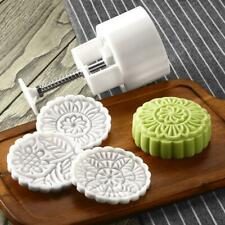 185g Large Moon Cake Mold 3D Plastic Candy Cookie Maker Home Made With 3 Pattern