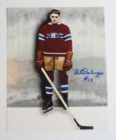 Pete Palangio original Picture autograph Montreal Canadiens with COI