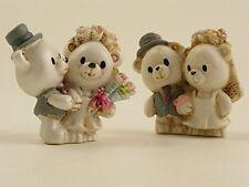 Bomboniere 24 pz statuine orsetti sposi resina matrimonio anniversario 50 25