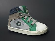New $90 BRAQEEZ Shoes High Top Kids Baby Boys LEATHER Toddler Size 6 USA/22 EURO