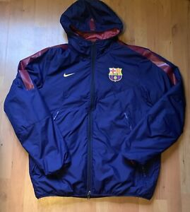 2014 Mens Nike FC Barcelona Core Padded Reversible Puffer Jacket Size Large Blue