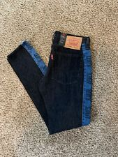New LEVI'S Mens 36x36 LO-BALL Stack Logo Stripe Jeans Warp Stretch BLACK