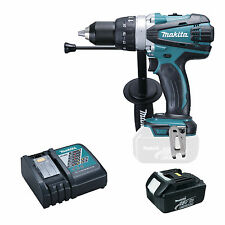 MAKITA 18V LXT BHP458 BHP458Z COMBI DRILL, BL1830 BATTERY AND DC18RC CHARGER