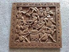 Ancienne fresque sculpté sur bois égyptienne