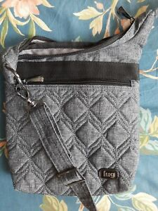 NWOT Lug Skipper RFID Protected Gray Quilted Crossbody Tote.  4-m