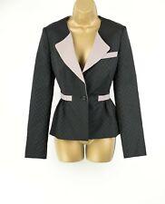 Karen Millen Black Spotted Jacket Blazer UK 10 EUR 38 US 6 Evening Casual
