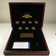 """[K018] 7 Stück 0.5g Gold, """" Die Kleinsten Goldmünzen der Welt"""""""