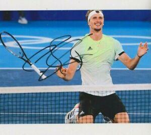 Foto Autogramm Alexander Zverev Tennis Olympiasieger ATP ARD ZDF RTL NDR LOOK -4