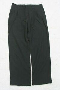 "Haggar Gallery Black Solid Dress Pants 34"" X 32"" Man's Poly Acrylic Rayon P188"