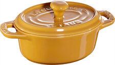 STAUB céramique 6 de Set Mini Cocotte ovale jaune moutarde 11 cm Moule à soufflé
