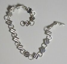 10 Complete silver plated pad and link bracelet chains, ideal for charms etc