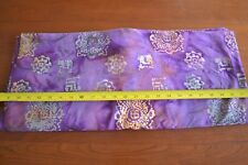 By 1/2 Yd, Yellow & Green on Purple Quilting Cotton Batik, N1264