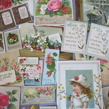 40+ Antique Victorian c1900 SPIRITUAL Cards Scraps GREETINGS Flowers Scripture