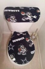 Dallas Cowboys Mickey Mouse Fleece Toilet Seat Cover Set Bathroom Accessories