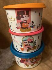 Tupperware Mickey und Minney Mouse 3er Set Neu