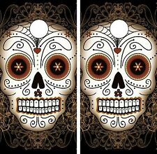 C39 Sugar Skull Cornhole Board Wrap LAMINATED Wraps Decals Vinyl Sticker