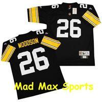 ROD WOODSON Pittsburgh STEELERS Home Black NFL Premier THROWBACK Jersey Sz S-XXL