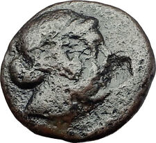 KYME in AEOLIS 300BC Artemis COUNTERMARK Amazon Horse Ancient Greek Coin i61310
