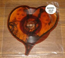 """MADONNA INTO THE GROOVE UK SHAPED 7"""" PICTURE DISC WITH ORIGINAL STICKERED SLEEVE"""