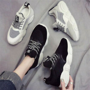 Womens Ladies Chunky Dad Sneakers Trainers Bali Runners Designer New Shoes Size