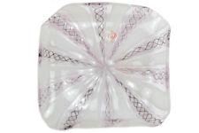 Vetro di murano glass Piatto in reticello Firmato M. Santi - Eugenio Ferro 1929