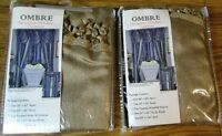 Ombre Tasseled Waterfall Valance Set of 2 NEW NIP Light Brown