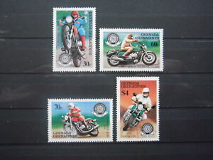 Grenada Grenadines - Set of stamps Year 1985 MNH** Annyversary of the motorcycle