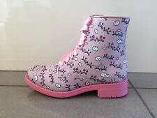 Bed Of Roses By Irregular Choice 'Dessie' (L) Pink Zip Up Ankle Boots Shoes