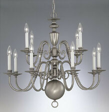 Pewter chandeliers ebay pewter 3 tier 12 light chandelier 31 aloadofball Image collections