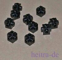 LEGO - 10 x Konverter - Stein 1x1, Noppen auf 4 Seiten schwarz / 4733 NEUWARE