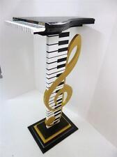 Elegant Music G Clef n Piano Design Unique Accent Table Floor Sculpture-by Alisa