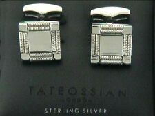 Tateossian Silver Cufflinks, European Design by Tateossian