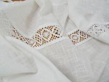 Vorhang LINA WHITE Gardine 120x240 2 Stück weiß Shabby Vintage Landhaus Curtain