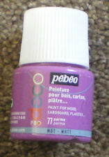 PEBEO DECO Acrylic Matt Paint 45ml PARMA 77 Wood Cardboard Plaster