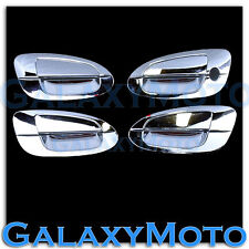 Triple Chrome kit 4 Door Handle+No PSG Keyhole Cover for 02-06 Nissan Altima