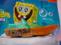 2012 SpongeBob Squarepants RESCUE BOAT ∞Orange∞Loose Matchbox∞Head Cases