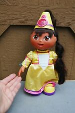 "Dora Princess Talking Doll Fisher Price 2003 Mattel Battery Op Works 14"" No Wand"