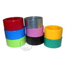 7mm~49mm PVC Heat Shrink Tubing Wrap (Black/Blue/Red/Green/Clear/Yellow/Orange)